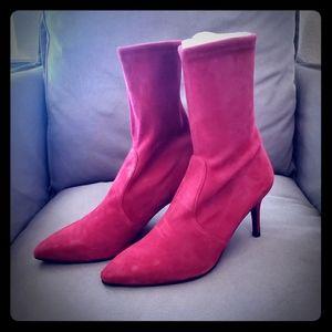 Stuart Weitzman Wren Suade Sock Boots